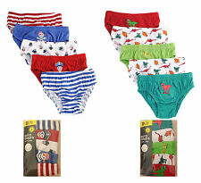 5 Pairs Of Kids Boys  Briefs, 100% Cotton Underwear Pants, Age 2-8 Years
