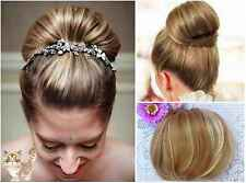 Elegant Bun Clip in Hair Piece Extension~Bride Wedding Party DIY Hair Styling
