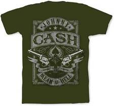 JOHNNY CASH - Mean as Hell - (Gray) - T SHIRT S-M-L-XL-2XL New Official T Shirt