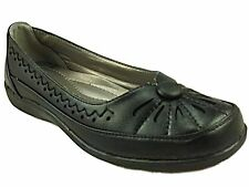 Ladies Cushion Walk Black Flat Casual Slip On Dolly Ballet Pump Shoe Size-Donna
