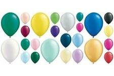 "Qualatex 100 x 11"" Pearl Finish Helium Quality Latex Balloons Choose Colour"