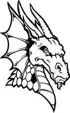 Dragon A133 Vinyl Decal Sticker Car Window Wall