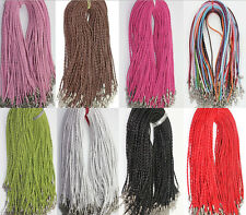 Wholesale 20pcs Color Manually Braided Leather Necklace Cord 46cm DIY