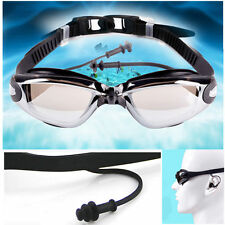 Professional Adult Swimming Swim Goggles Glasses Anti-fog UV Protection Earbuds