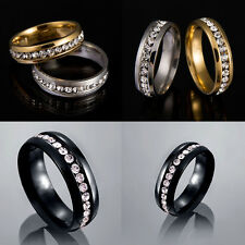 Trendy Unisex Stainless Steel Ring Men/Women's Wedding Jewelry Black/Silver/Gold