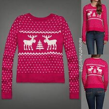 NWT ABERCROMBIE & FITCH WOMENS GEMMA SWEATER PINK SIZE LARGE A&F
