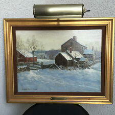 "Antique American Impressionism Winfield Scott Clime oil/ board  ""Frosty Morning"""