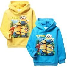Minions Despicable Me Kids Boys Girls Thick Hoodie Tops Coats Jumper New