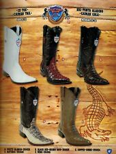 Wild West Men's XXX-Toe Caiman Tail Cowboy Western Boots Different Colors