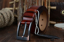 Classic Commuter Men Genuine Leather Waistband Pin Buckle Belt Waist Strap Belt
