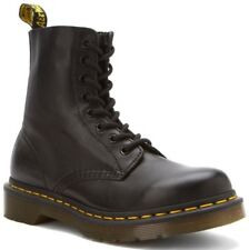 Dr. Martens Women's Pascal Casual Lace Up Leather Ankle Boots Black Virginia