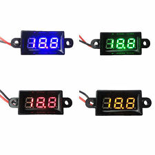 Mini DC 3.5-30V 3-Digital Waterproof LED Voltage Voltmeter Panel Meter 2-Wires