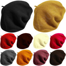 Classic Fashion 100% Wool Warm French Art Basque Beret Tam Beanie Hat Cap Olive