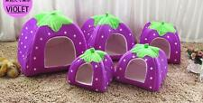 Cushion House Basket Doggy Pet Warm Kennel Strawberry Bed Dog Cat Soft Puppy