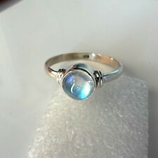 Rainbow Moonstone 925 Sterling Silver Ring Handmade Ring Size 4-13