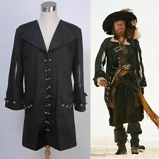 Pirates of the Caribbean Barbossa Jacket Costume Cosplay Halloween Party