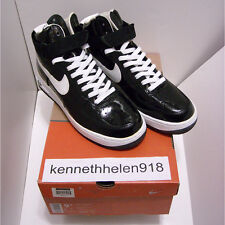NEW 2002 NIKE AIR FORCE 1 SHEED HIGH PATENT LEATHER BLACK WHITE MENS SIZE 9.5