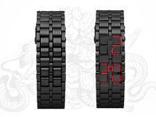 "LED Smart Watch - Japanese Style Inspired Red LED Watch ""Iron Samurai CVIZ-G165"