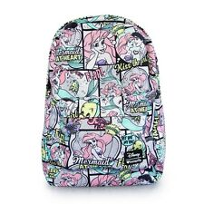 Disney Little Mermaid Loungelfy Ariel Comic Print Backpack Bag