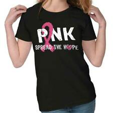 Breast Cancer Awareness Pink Spread The Hope Pink Ribbon Gift Ladies T-Shirt