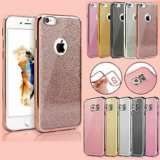 Electroplated Shockproof Chrome Bumper Protective Case Cover For iPhone Samsung