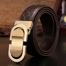 NEW Men Genuine Leather Belt Designer Belts For Men Leique Texture Ratchet Belt