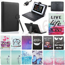 "New Universal For 7"" 10"" RCA Tablet Micro USB Keyboard Case Stand Leather Cover"