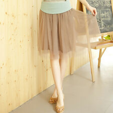 New Women Lace Princess Fairy Style 5 layers Voile Tulle Skirt