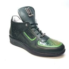 Mauri 711/2 Forest Green Alligator/Nappa/Patent Sneakers