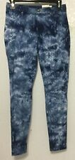 Hue Tie Dye Denim Skimmer Dark Blue Leggings U161184H Size S M XL New $48