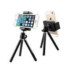 Rotatable Mini Tripod Stand + Holder For Camera Mobile Phone iPhone