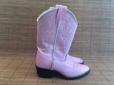 Old West Pink Boots Size 12.5 Girls Kids Western Cowgirl Cowboy Leather