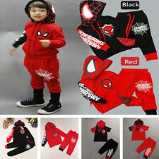 Baby Kids Boy's Spiderman 2pcs Costume Outfit Sport Sweatshirt+Pants Tracksuits