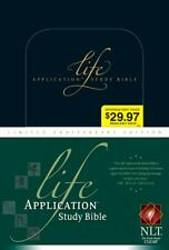 Life Application Study Bible NLT (2009, Hardcover, Anniversary, Limited)