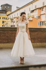 Stock New white/ivory Bridal Gown Wedding Dress Custom Size 4-6-8-10-12-14-16-18