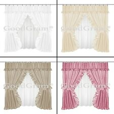 Double Swag Fabric Shower Curtain & Liner Machine Washable New Free Shipping