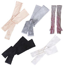 1 Pair Long lace UV Sun Protection Arm Sleeves Bridal Golf Driving Gloves ZH