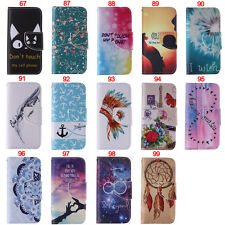 Feather Wallet Leather Flip Case Cover For iPhone 4 4S 5 5S SE 6 6S 6 Plus 6Plus