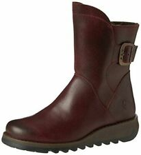 Fly London Sien Leather Ankle Boots Purple