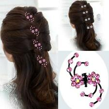 6pcs/lots Womens Lady Hair Barrette Clips Crystal Hairpin Wedding Bridge Jewelry