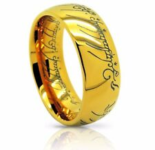 Size 6-15 Lord of the Rings *The One (Tungsten) Ring* 18k Gold Plating