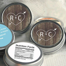Wedding Favors- 12 Personalized Wedding Mint Tins - Wedding Mints - Mint Favors