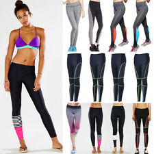 Womens Yoga Fitness Leggings Gym Stretch Sports Pants Trousers Athletic Clothes