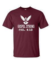 Gospel Strong Phil. 4:13 Faith Christ Conservative Christian Men's Tee Shirt