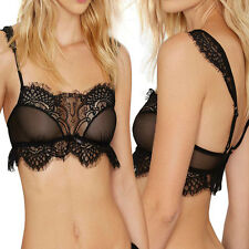 Women Strappy Bralette Cage Caged Back Cut Out Unpadded Bra Bralet Crop Top EP