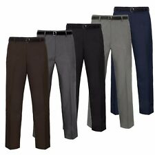 Mens Formal Ever Press Trousers W 30 - 50 Smart Pants Leg 27 29 31 Work Comfort