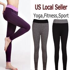 Leggings Tight Yoga Gym Pants Fitness Sports Womens Stretch Workout Athletic