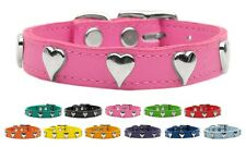 Heart Leather Pet Dog Collar - Variety of Sizes