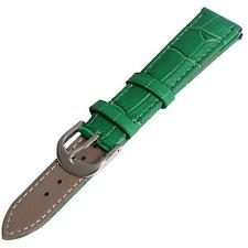 New 12mm 14mm 16mm 18mm 20mm 22 mm 24mm Green Genuine Leather Watch Band Strap