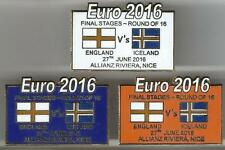 Euro 2016 Finals - England v Iceland ~ Match Day Badge